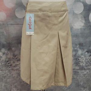 Cat & Jack Khaki Uniform Skirt w/shorts